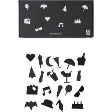 Ikony party do tablicy design letters 20 szt. czarne
