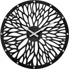 Imponujący czarny drewniany zegar lavvu wood lct1182