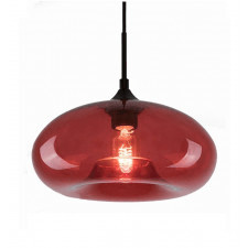 Industrialna lampa wisząca london loft 3 ze szklanym kloszem