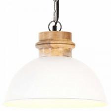 Industrialna lampa wisząca, biała, okrągła, 32 cm, e27, mango