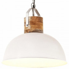 Industrialna lampa wisząca, biała, okrągła, 42 cm, e27, mango