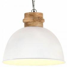 Industrialna lampa wisząca, biała, okrągła, 50 cm, e27, mango