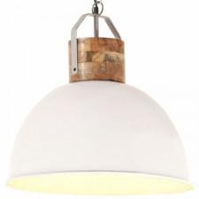 Industrialna lampa wisząca, biała, okrągła, 51 cm, e27, mango