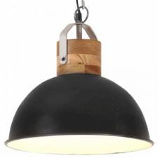 Industrialna lampa wisząca, czarna, okrągła, 32 cm, e27, mango