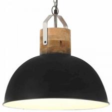 Industrialna lampa wisząca, czarna, okrągła, 42 cm, e27, mango