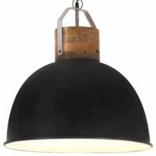 Industrialna lampa wisząca, czarna, okrągła, 51 cm, e27, mango