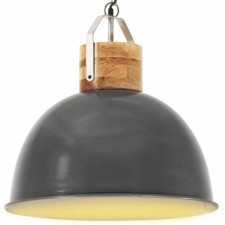 Industrialna lampa wisząca, szara, okrągła, 51 cm, e27, mango