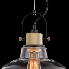 Industrialna lampa wisząca, szklana, do kuchni i jadalni irving maytoni loft (t163pl-01w)
