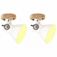 Industrialne lampy na ścianę/sufit 2 szt., białe, 20x25 cm, e27