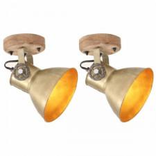 Industrialne lampy ścienne/sufitowe 2 szt. mosiądz 20x25 cm e27