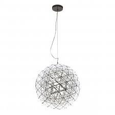 Italux adriana pen-b04445-80 lampa wisząca kula dekoracyjna 1x80w led srebrna