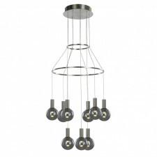Italux aria md17012002-9a lampa wisząca oprawa industrialna 9x3w led chrom dymiony