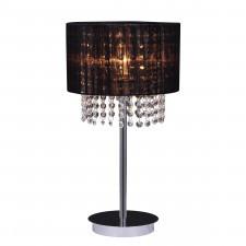 Italux astra bk mtm1953/1 bk lampa stołowa oprawa biurkowa lampka nocna 1x40w kryształowa czarna gla