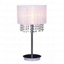 Italux astra wh mtm1953/1 wh lampa stołowa oprawa biurowa lampka nocna 1x40w biała kryształowa glamo