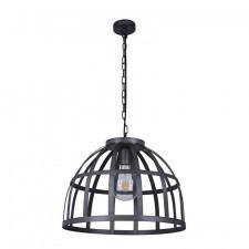 Italux calera pnd-4114-40-1 lampa wisząca oprawa industrialna metalowa loft 1x60w czarny srebrny ant