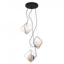 Italux canto pen-5696-3-bkcr lampa wisząca oprawa industrialna dekoracyjna 3x40w biały czarny chrom