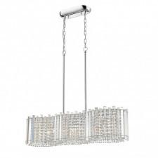 Italux carla p0465-06g lampa wisząca oprawa kryształowa dekoracyjna 6x42w chrom glamour srebrny