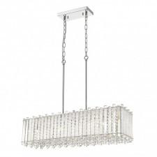 Italux carla p0465-07b lampa kryształowa oprawa wisząca dekoracyjna 7x42w chrom srebrny glamour