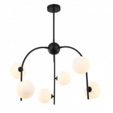 Italux celine mdm-3800/6 bk+w lampa wisząca oprawa industrialna 6x25w czarny biały