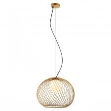 Italux clarisa mdm-3842-1 gd lampa wisząca oprawa kula druciana 1x40w złoty