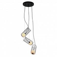 Italux coco mdm-3941/3 bk lampa wisząca oprawa industrialna druciana 3x25w czarny