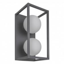 Italux daisy mb-br4367-w2 gr lampa ścienna kinkiet industrialny 2x4w led szary