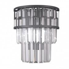 Italux filip wl-43493-2a kinkiet kryształowy lampa ścienna 2x40w czarny mat