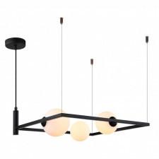 Italux gareth mdm-3975/3 bk lampa wisząca oprawa industrialna 3x25w czarny biały