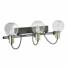 Italux gianni mb16096-3b kinkiet industrialny lampa ścienna 3x40w czarny brąz antyczny