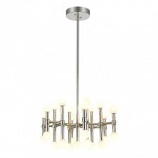 Italux giovanna mx16009008-25a lampa wisząca żyrandol industrialny 1x65w led nikiel polerowany