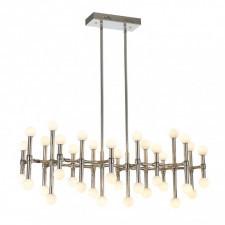 Italux giovanna mx16009008-38a żyrandol industrialny oprawa dekoracyjna 1x96w led nikiel polerowany