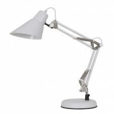Italux jason mt-hn2041 wh+s.nick lampa stołowa oprawa biurkowa lampka nocna 1x60w biały nikiel