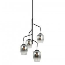 Italux lesla pen-5359-4-bkcr lampa wisząca dekoracyjna oprawa industrialna 4x40w czarny chrom