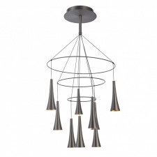 Italux luca md16115-9a lampa wisząca oprawa industrialna 1x45w led kawowy