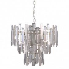 Italux lucas pnd-43383-9a lampa wisząca oprawa kryształowa 9x40w złoty szampański