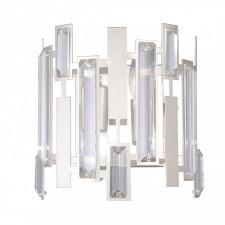 Italux lucas wl-43383-2a kinkiet kryształowy lampa ścienna 2x40w srebrny szampański