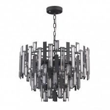 Italux lukas pnd-43383-9 lampa wisząca oprawa kryształowa 9x40w satynowy czarny