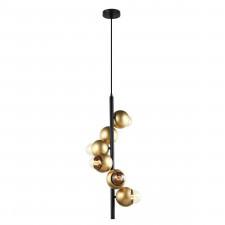 Italux malmo pen-5104-6-bkgd lampa wisząca oprawa industrialna dekoracyjna 6x40w czarny złoty
