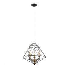 Italux maresmo pen-6369-3-bkbr lampa wisząca stalowa oprawa industrialna loft 3x40w czarny złoty