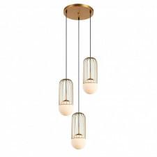 Italux matty mdm-3939/3 gd lampa wisząca oprawa industrialna kaskada druciana 3x40w złoty