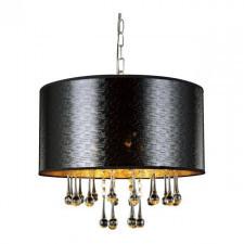 Italux mdm2028/3 sasha 3x40w lampa wisząca czarny kryształ