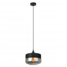 Italux molina mdm-2380/1 bk+sg lampa sufitowa wisząca 1x40w czarny/przydymiony