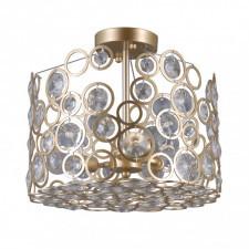 Italux nardo pnpl-33064-3-ch.g lampa sufitowa plafon kryształowy 3x40w szampański złoty
