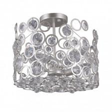 Italux nardo pnpl-33064-3-ch.s lampa sufitowa oprawa dekoracyjna kryształowa 3x40w srebrny szampańsk
