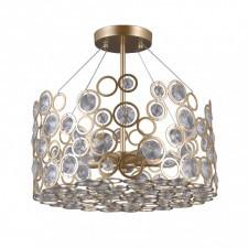 Italux nardo pnpl-33064-5-ch.g lampa wisząca z kryształami 5x40w szampański złoty