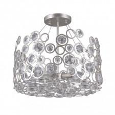 Italux nardo pnpl-33064-5-ch.s lampa wisząca z kryształami oprawa okrągła 5x40w srebrny szampański