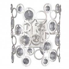 Italux nardo wl-33064-2-ch.s lampa ścienna kinkiet dekoracyjny 2x40w srebrny szampański