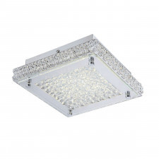 Italux nino c98000f-17w plafon kwadratowy lampa sufitowa 1x17w led chrom/przezroczysty