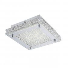 Italux nino c98000f-20w plafon kwadratowy lampa sufitowa 1x20w led chrom/przezroczysty