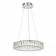 Italux perla md15030038-1a lampa wisząca oprawa kryształowa 1x40w led chrom glamour